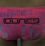Dunes Boys swimmers pink performance based racers