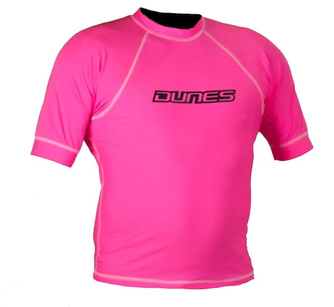 dunes mens rash shirt pink short sleeve
