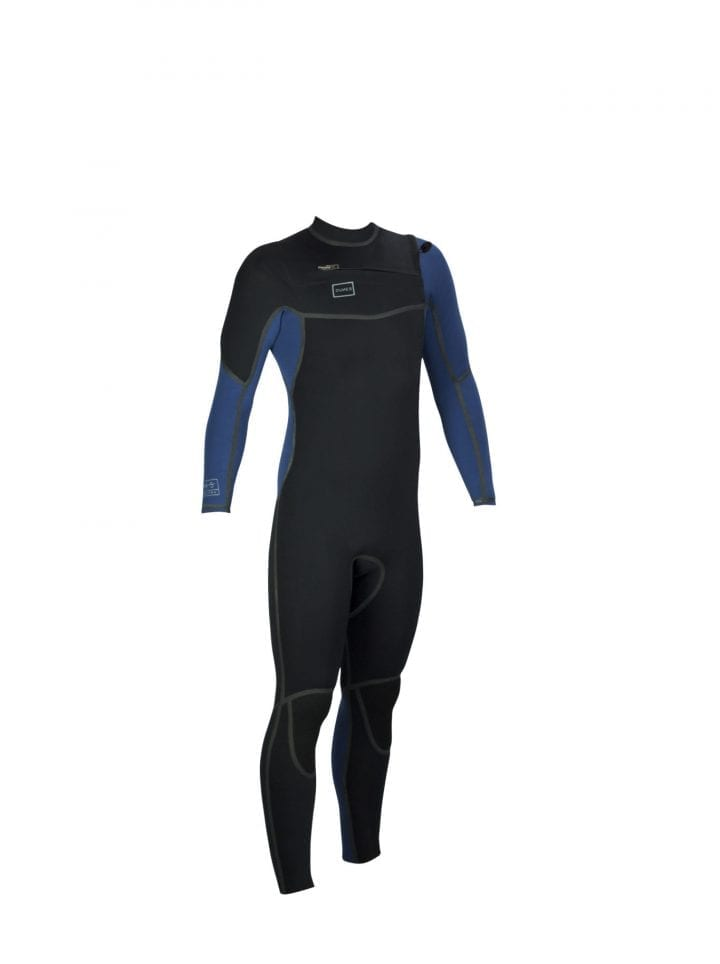 DNS Chest Zipper Steel Blue Wetsuit product front