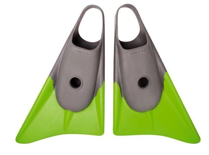 Limited Edition Grey Lime bodyboard fins