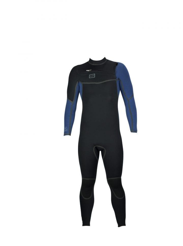 DNS Chest Zipper Steel Blue Wetsuit